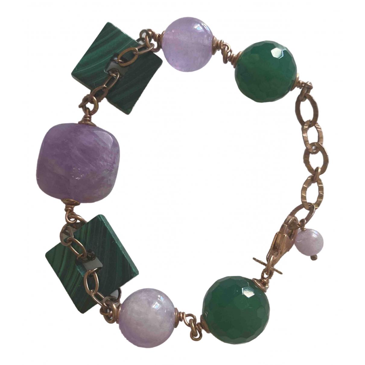 - Bracelet   pour femme en metal - vert
