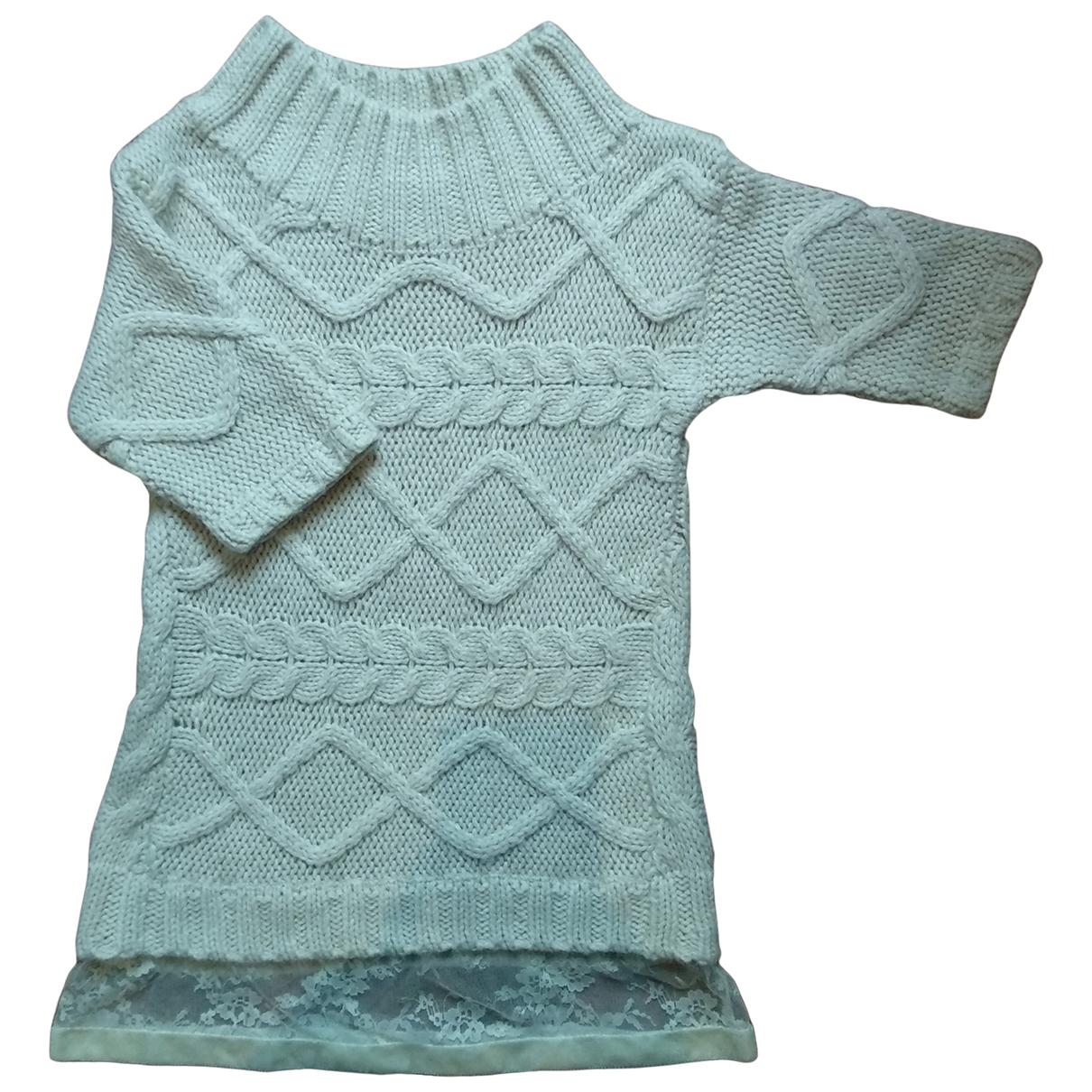 Twin Set - Pull   pour femme en laine - ecru