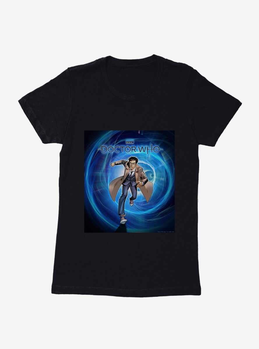 Doctor Who The Tenth Doctor Poster Womens T-Shirt