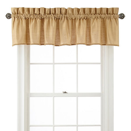 JCPenney Home Supreme Rod-Pocket Insert Valance, One Size , Yellow