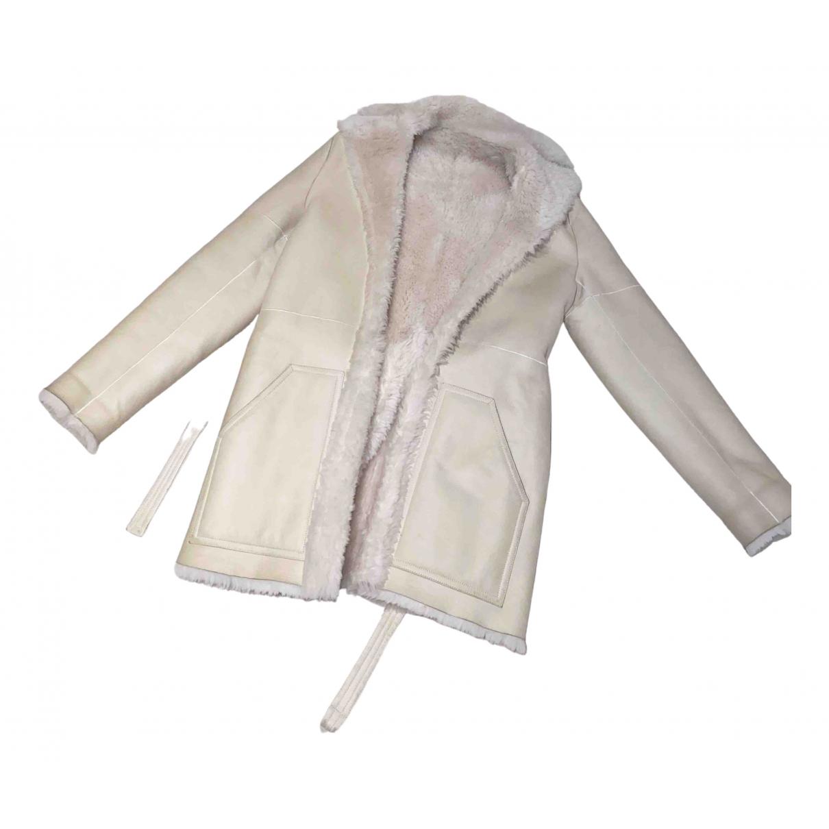 Joseph - Manteau   pour femme en suede - blanc