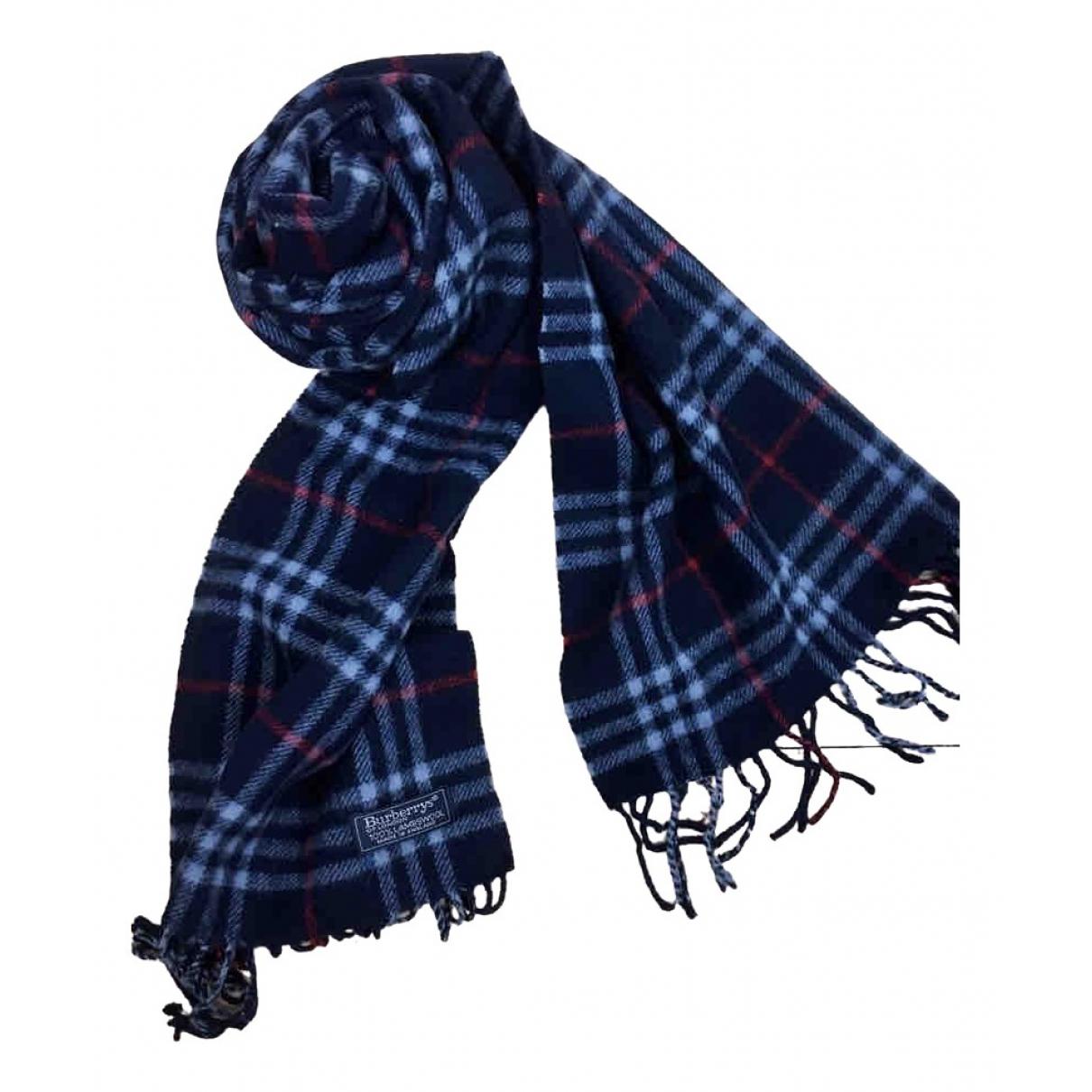 Burberry - Foulard   pour femme en laine - marine