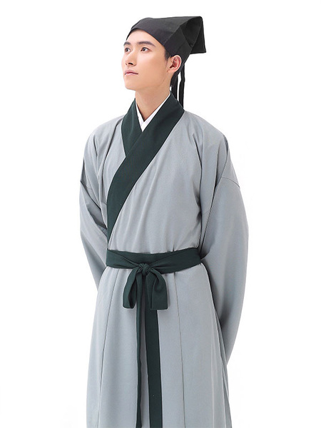 Milanoo Halloween Chinese Costume Men's Scholar Gown Outfit Ancient Traditional Fancy Dress