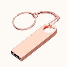 8G Metal USB Flash Drive With Keychain
