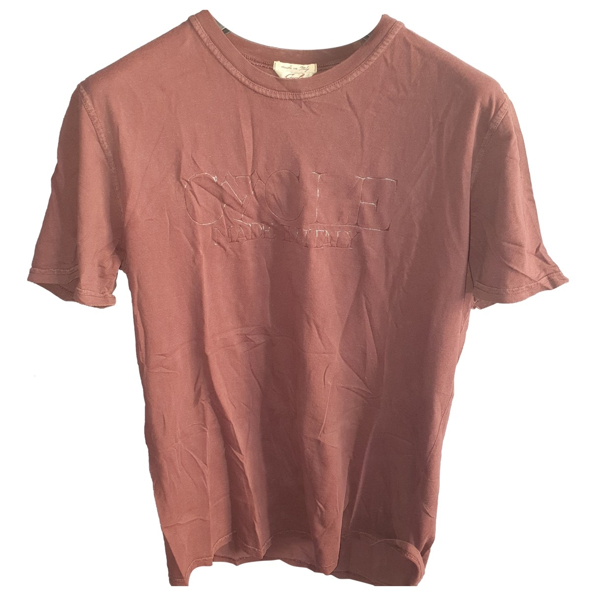 Cycle - Tee shirts   pour homme en coton - bordeaux