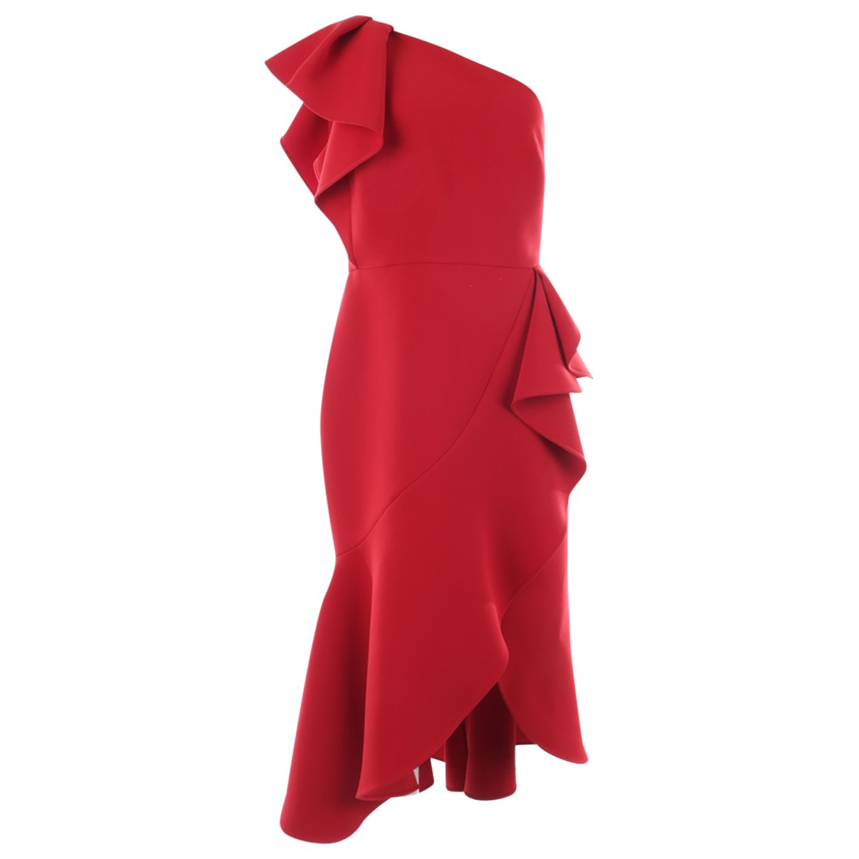 Elie Saab \N Kleid in  Rot Synthetik