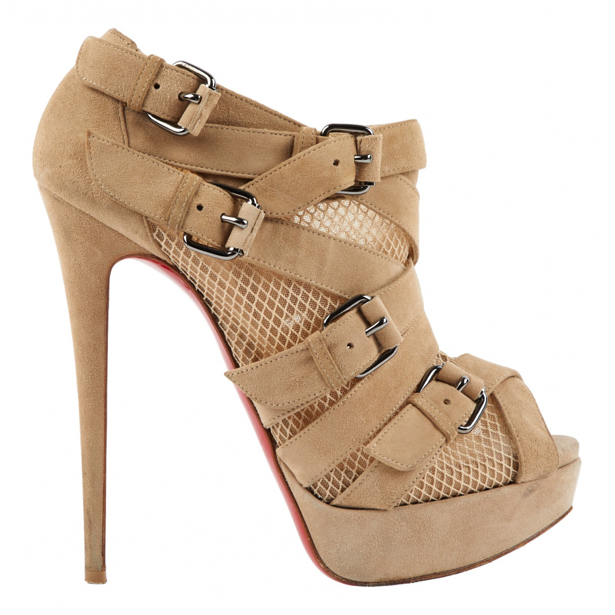 Christian Louboutin \N Beige Suede Ankle boots for Women 39 EU