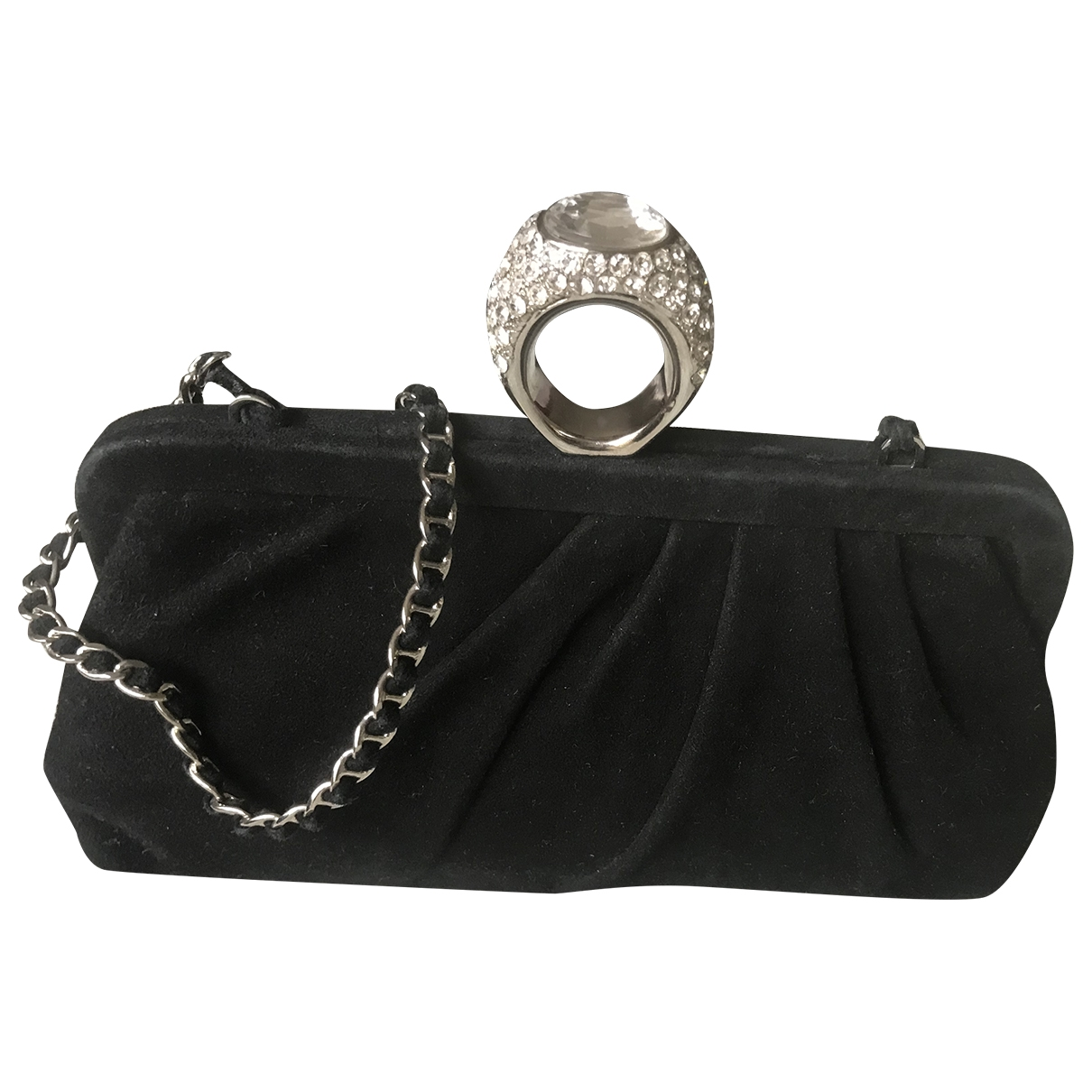 Moschino Cheap And Chic \N Black Suede Clutch bag for Women \N