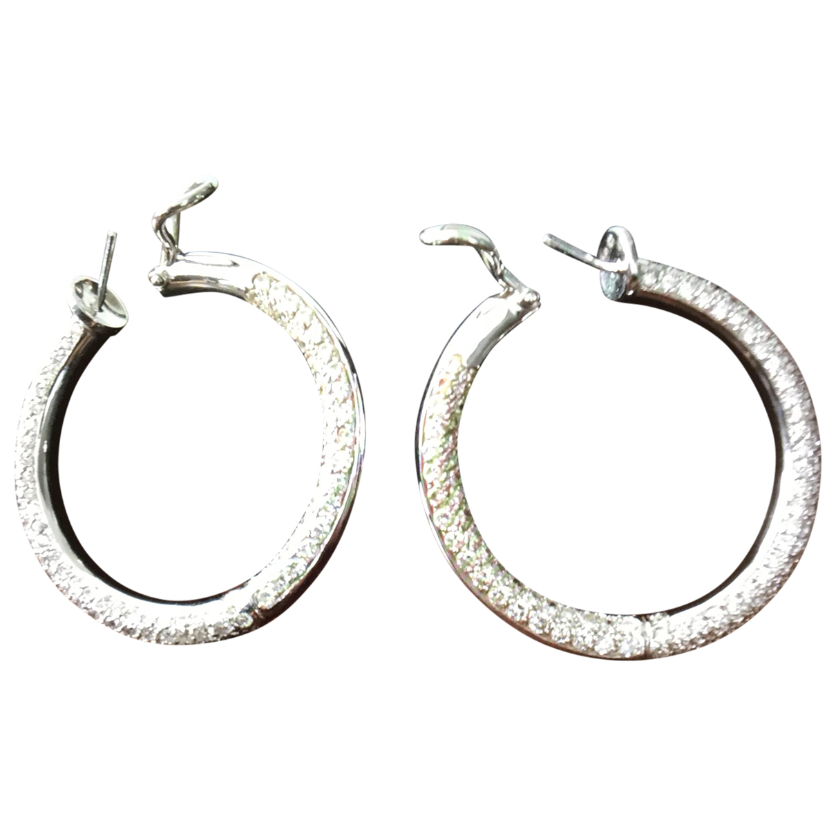 Non Signé / Unsigned Créoles White gold Earrings for Women N