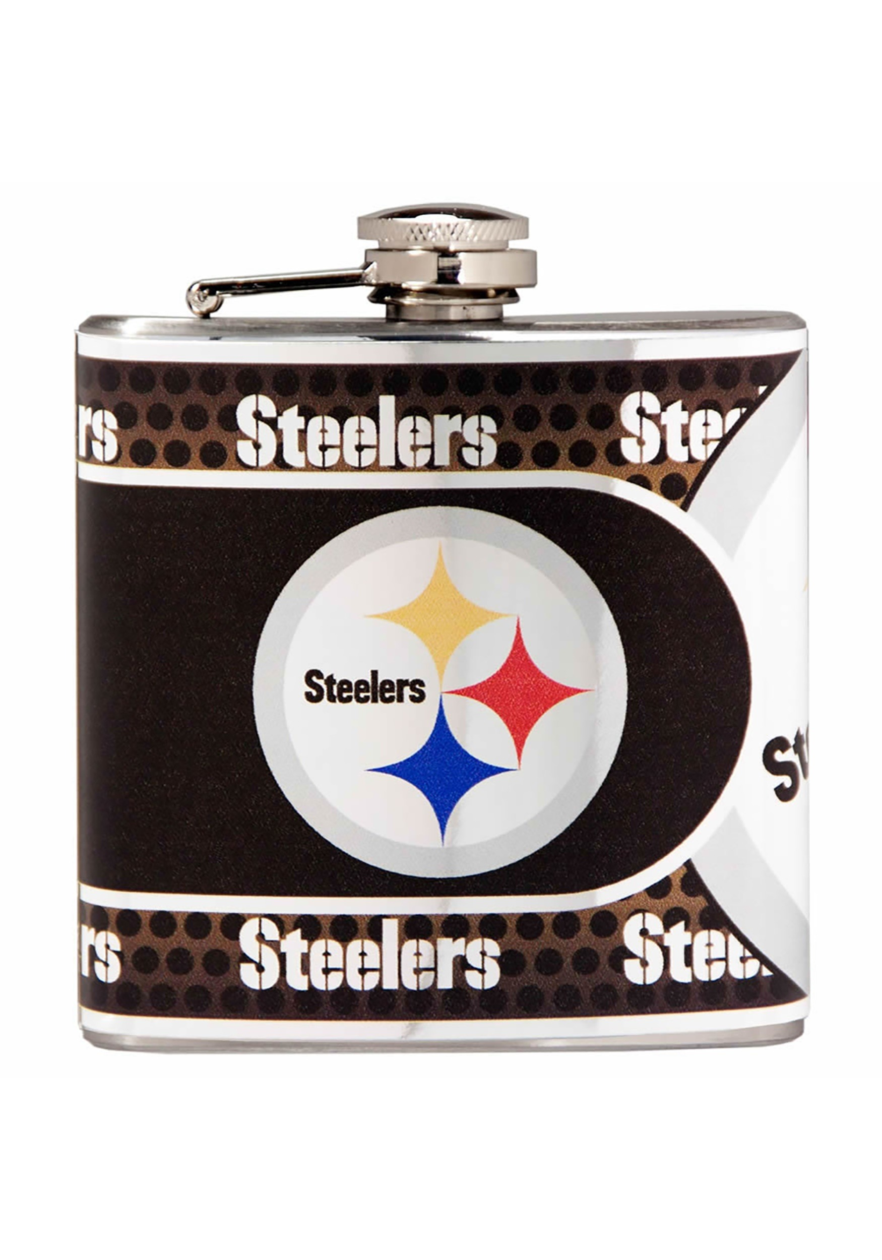 NFL Pittsburgh Steelers 6 oz. Stainless Steel Flask w/ Metallic Graphics