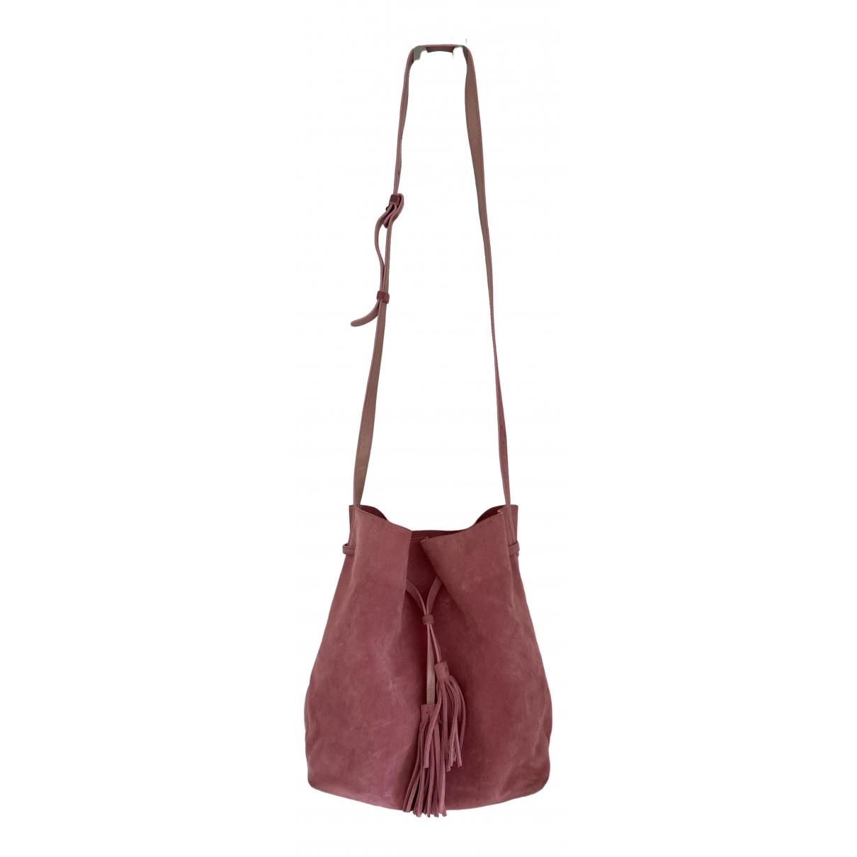Gerard Darel \N Handtasche in  Rosa Veloursleder