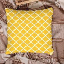 Kissenbezug mit geometrischem Muster ohne Fuellstoff