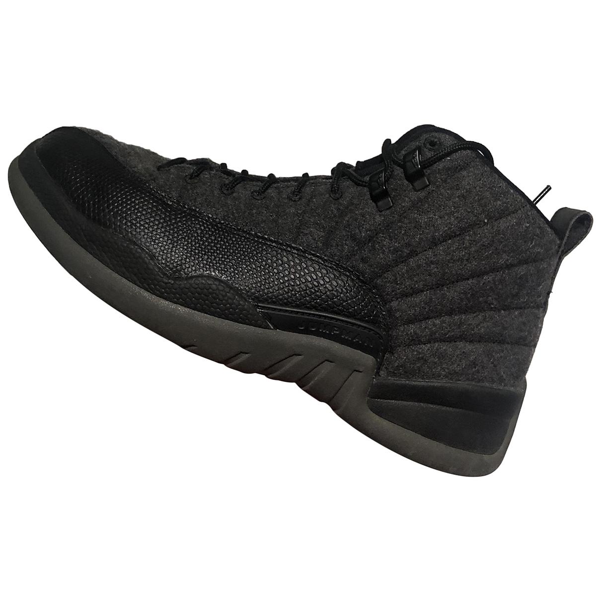 Jordan - Baskets Air Jordan 12 pour homme en cuir - gris