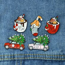 5pcs Christmas Cartoon Brooch