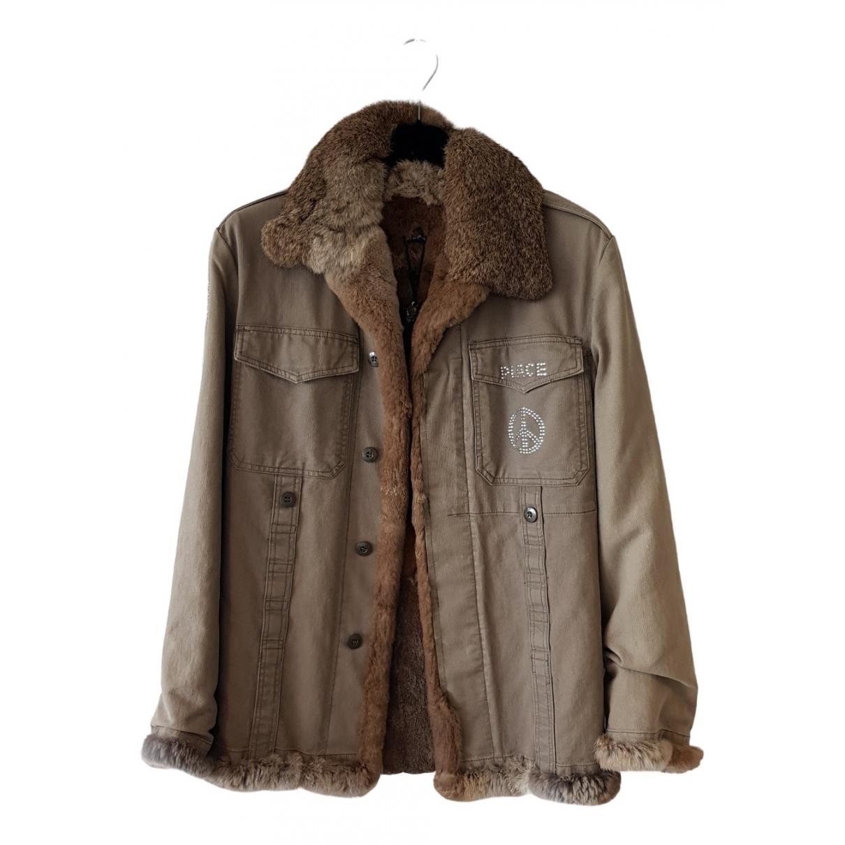 Philipp Plein \N Green Denim - Jeans jacket for Women 46 IT