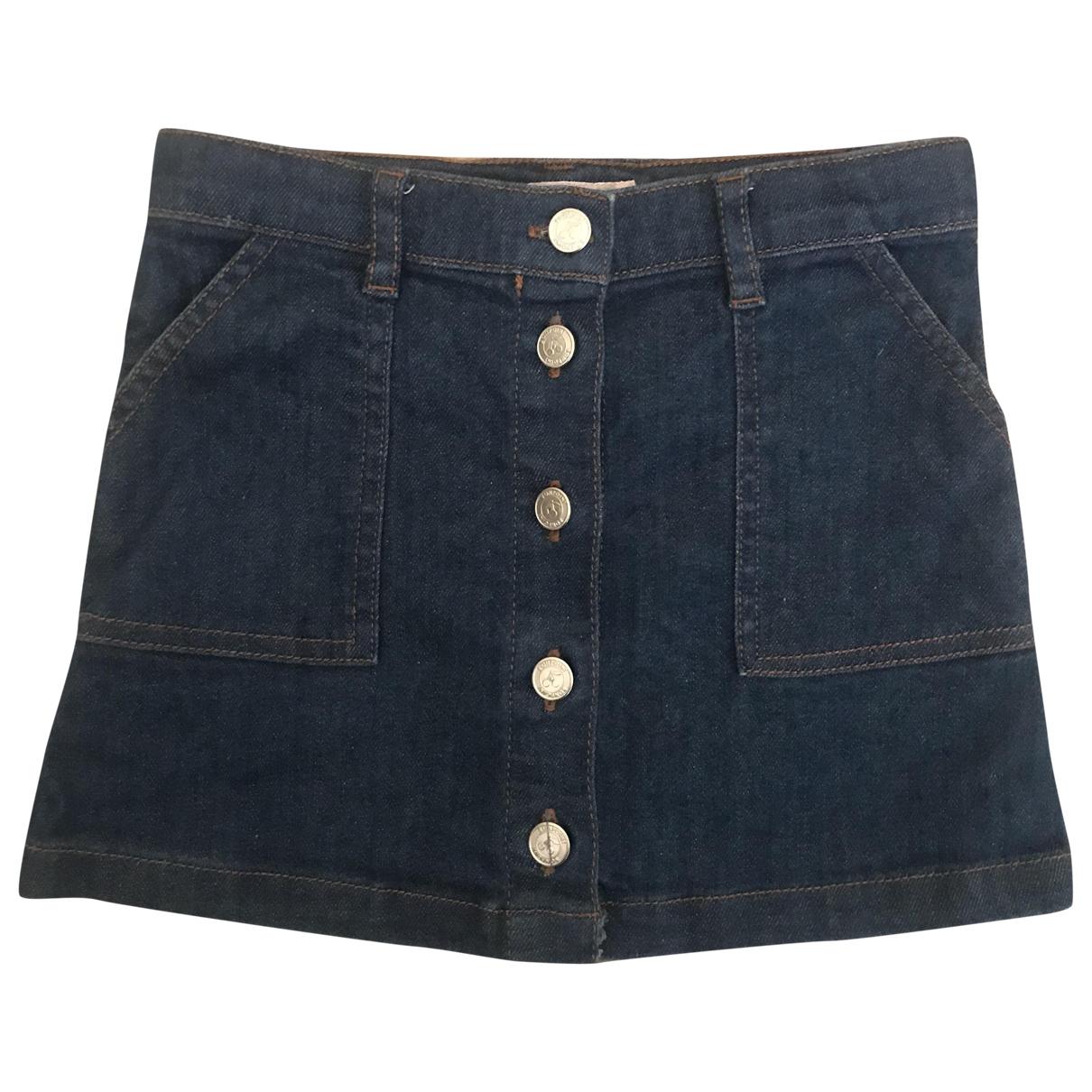 Bonpoint \N Blue Denim - Jeans skirt for Kids 4 years - up to 102cm FR