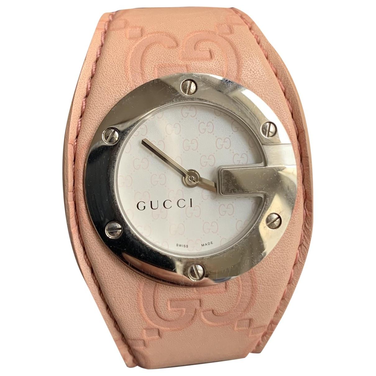 Gucci - Montre   pour femme en acier - rose
