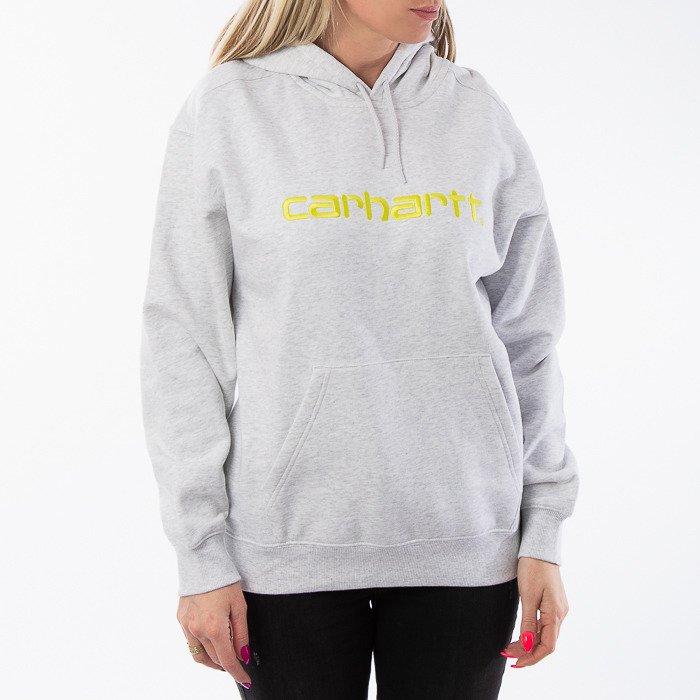 Carhartt WIP W Hooded Sweatshirt I027476 ASH HEATHER/LIME