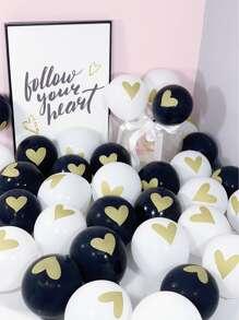 10pcs Love Pattern Balloon