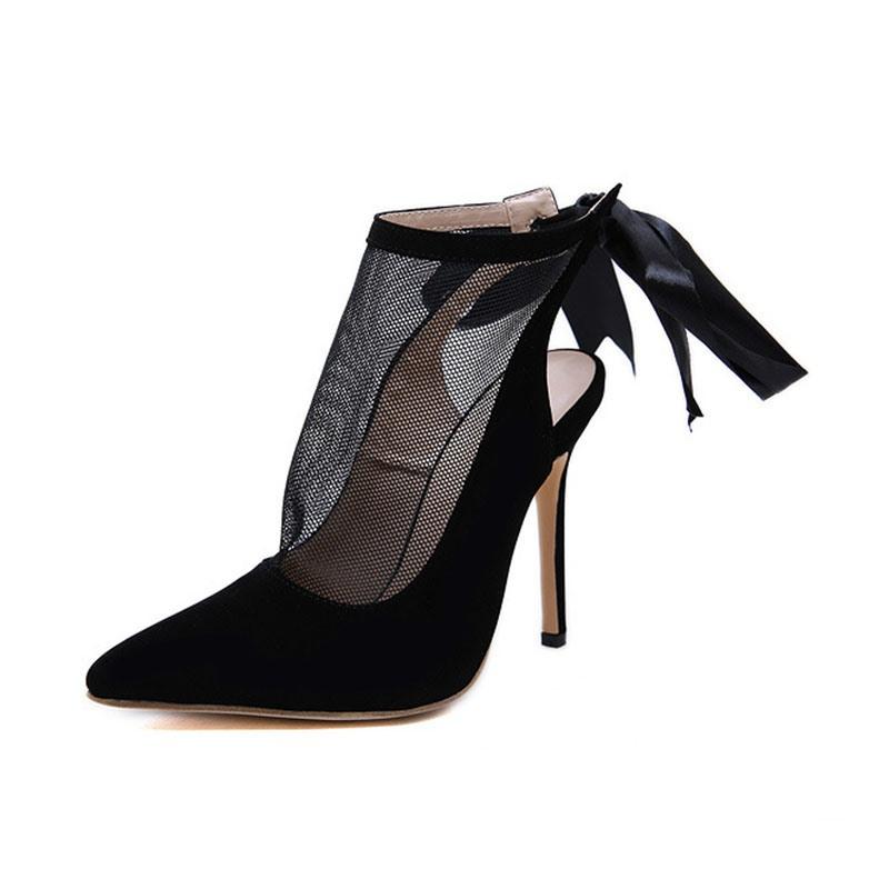 Ericdress Pointed Toe Thread Stiletto Heel Ultra-High Heel Pumps