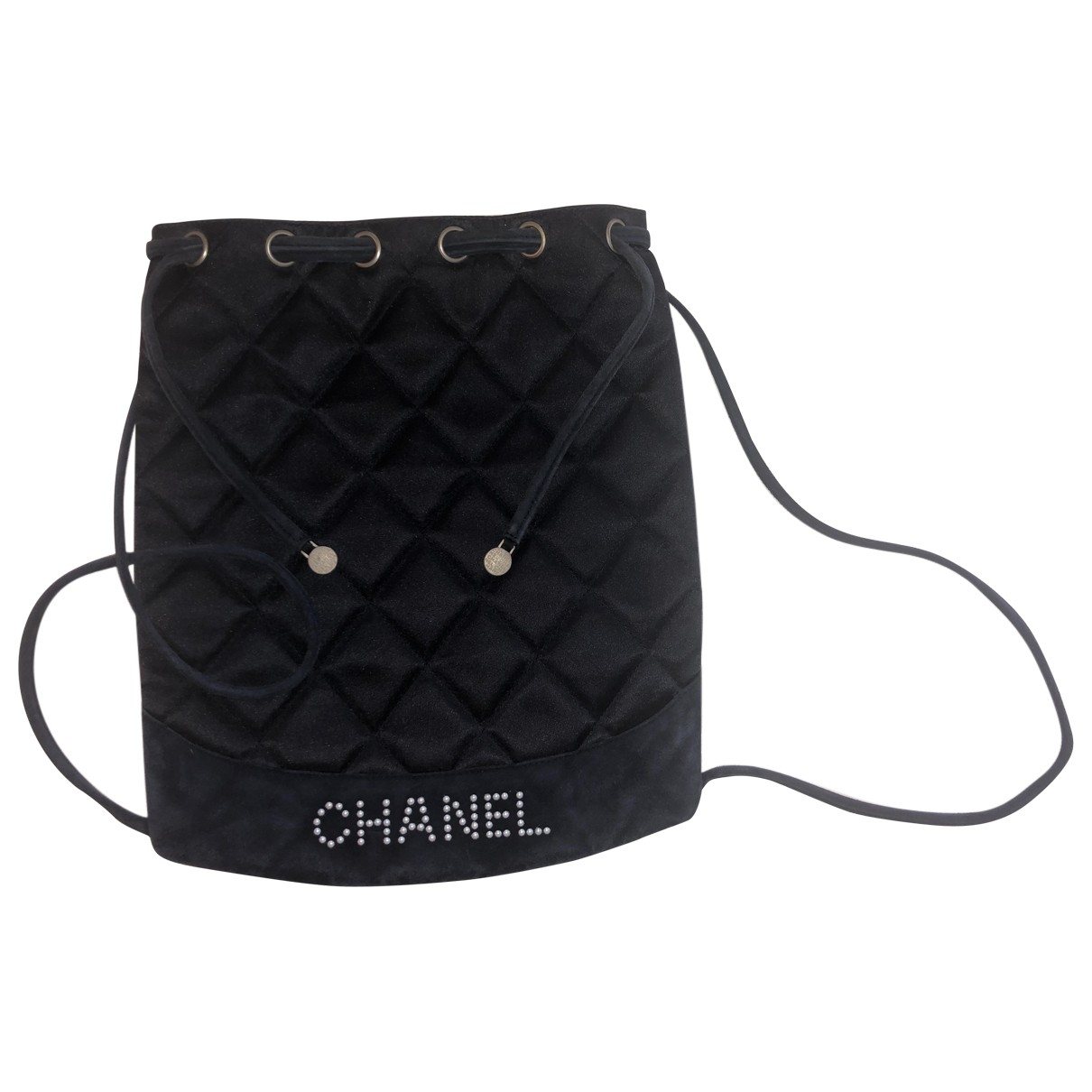 Chanel \N Rucksaecke in  Schwarz Veloursleder