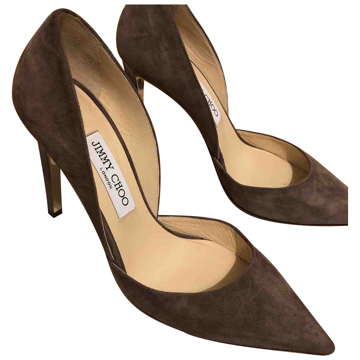 Jimmy Choo \N Brown Suede Heels for Women 38 EU