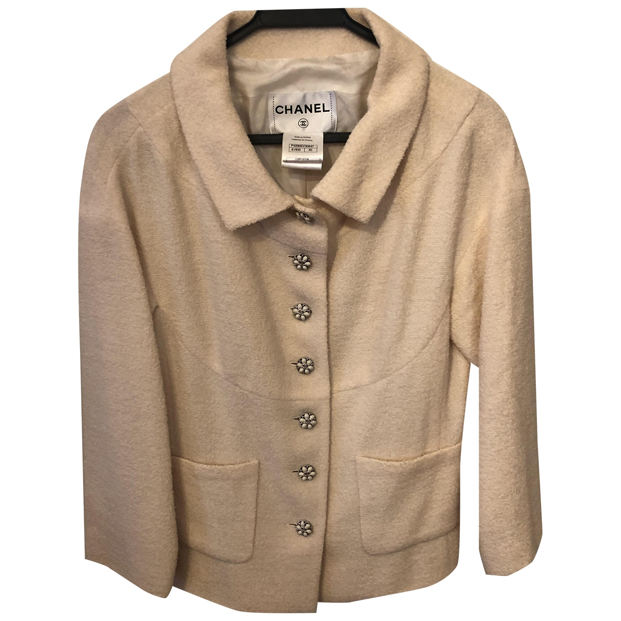 Chanel \N Ecru Tweed jacket for Women 40 FR