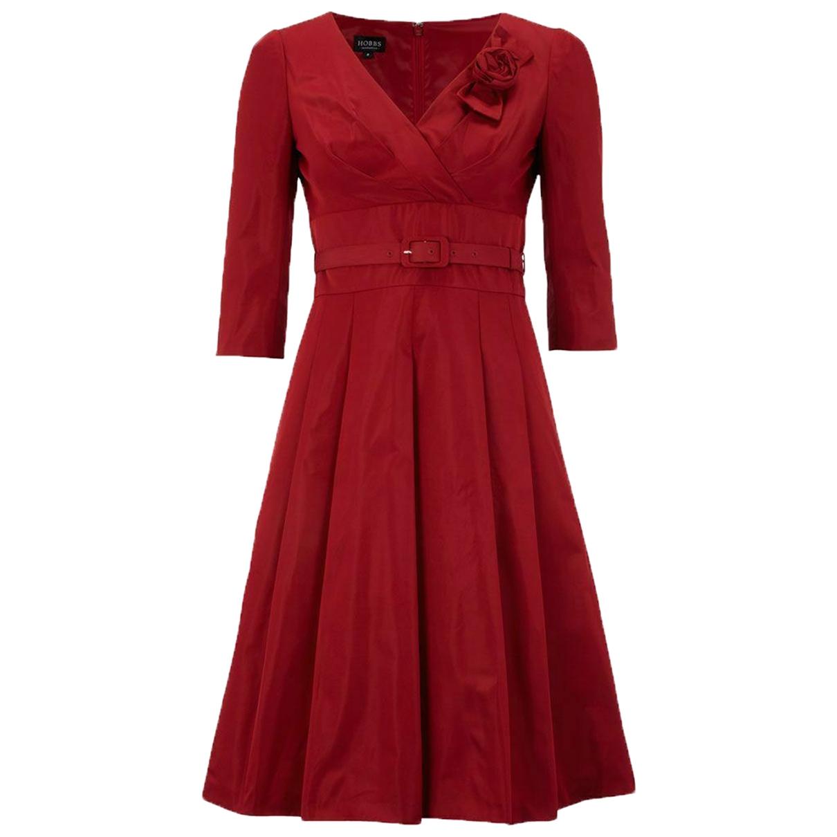 Hobbs \N Kleid in  Rot Polyester