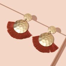 Ohrringe mit rundem & Quasten Dekor