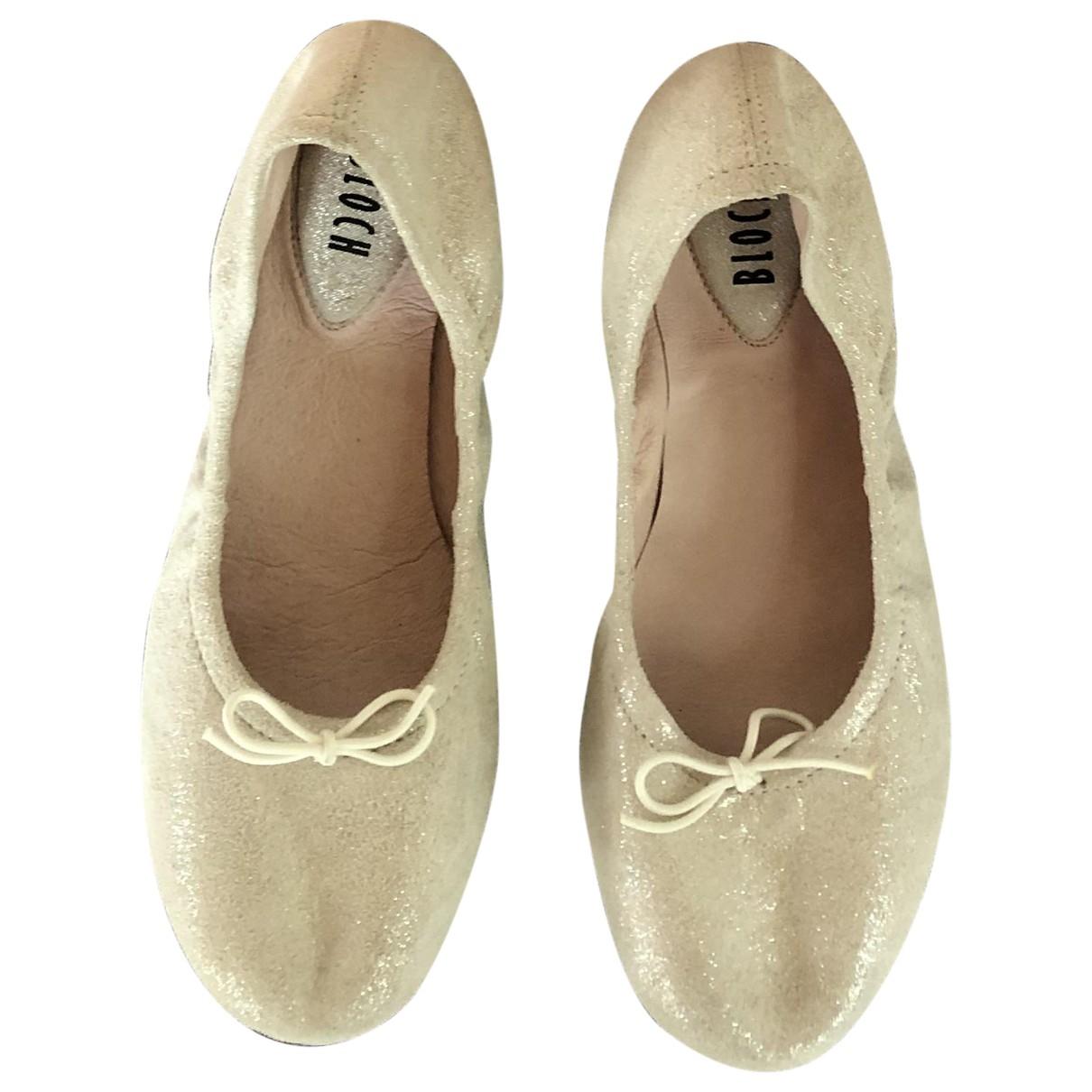Bloch \N Ecru Leather Ballet flats for Kids 32 EU