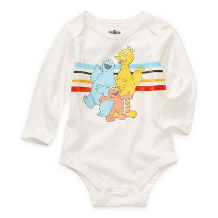 Okie Dokie Baby Boys Sesame Street Bodysuit, Newborn , Beige