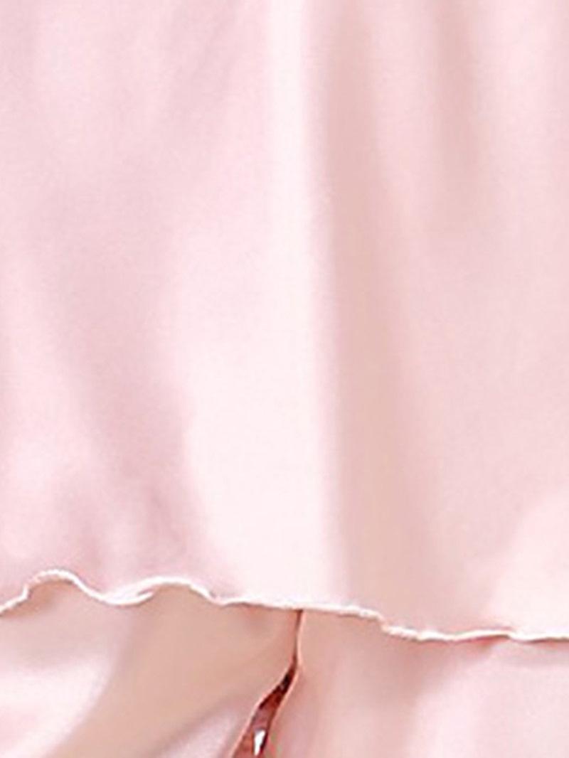 Ericdress Women Plain Lace Sexy Satin Pajama Camisole Short Sets
