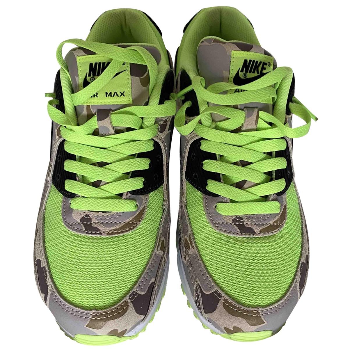 Nike - Baskets Air Max 90 pour homme en cuir - vert