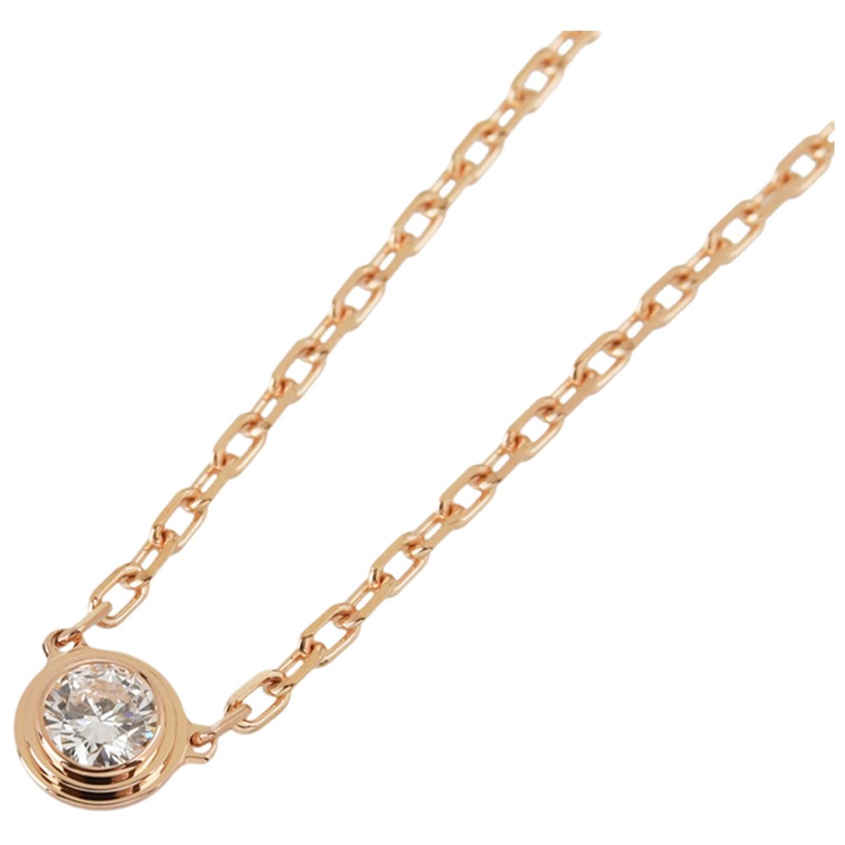 Cartier - Collier   pour femme en or rose - dore