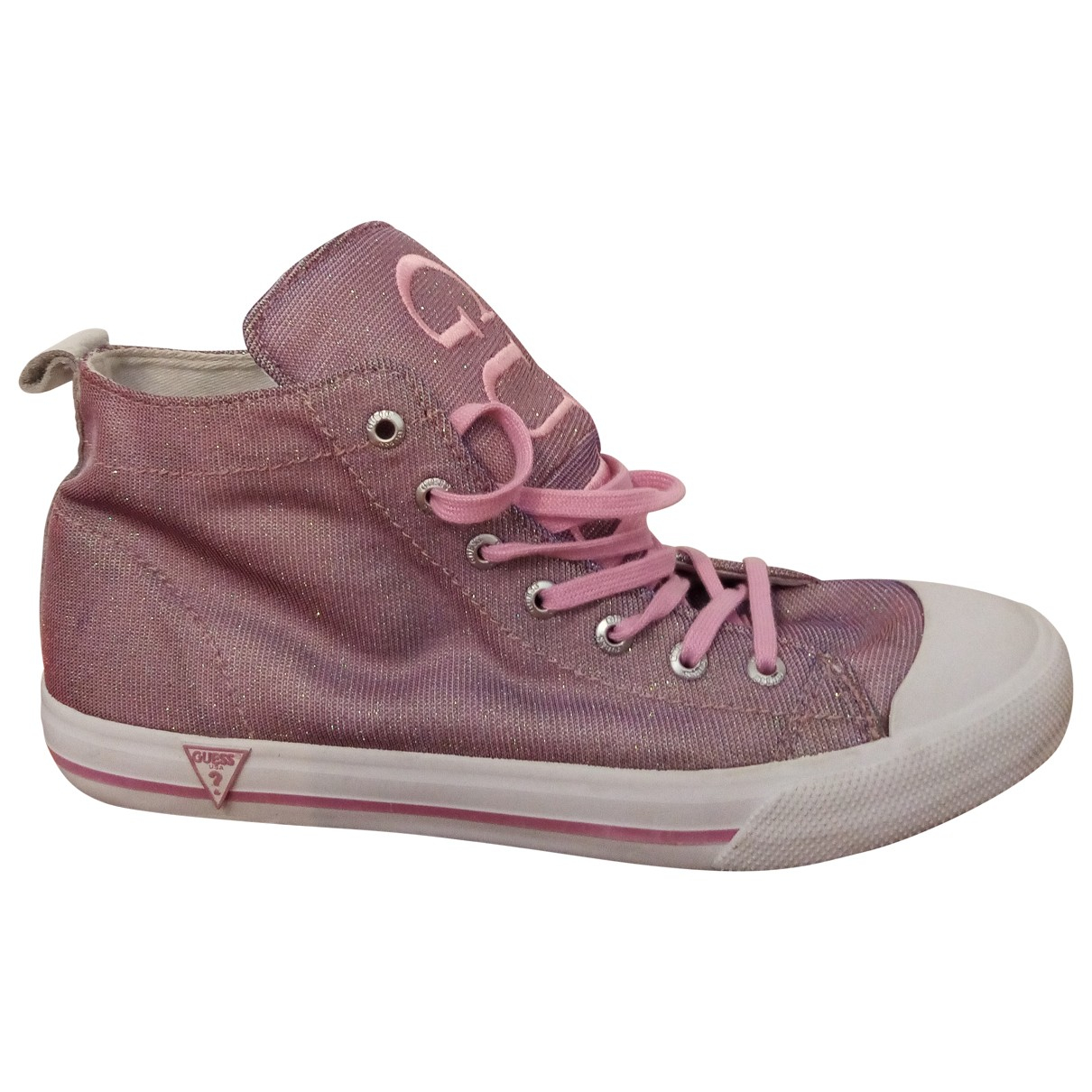 Guess \N Pink Cloth Trainers for Women 39 EU