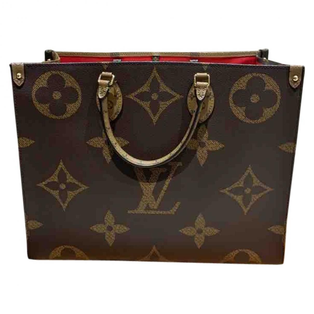 Louis Vuitton Onthego Handtasche in  Braun Leinen