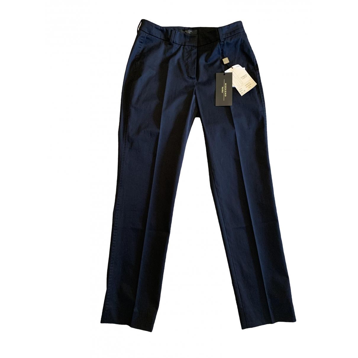Max Mara Weekend \N Black Cotton Trousers for Women 40 IT