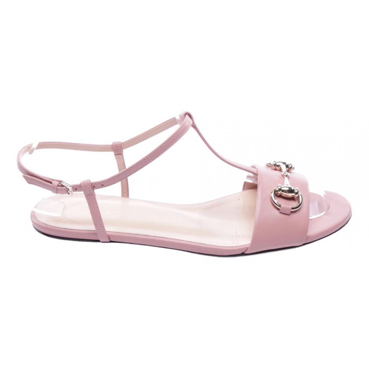 Gucci \N Pink Cloth Sandals for Women 37 EU