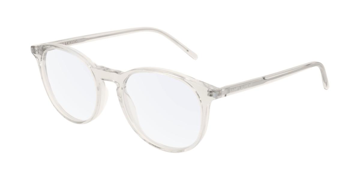 Saint Laurent SL 106 010 Mens Glasses Clear Size 50 - Free Lenses - HSA/FSA Insurance - Blue Light Block Available