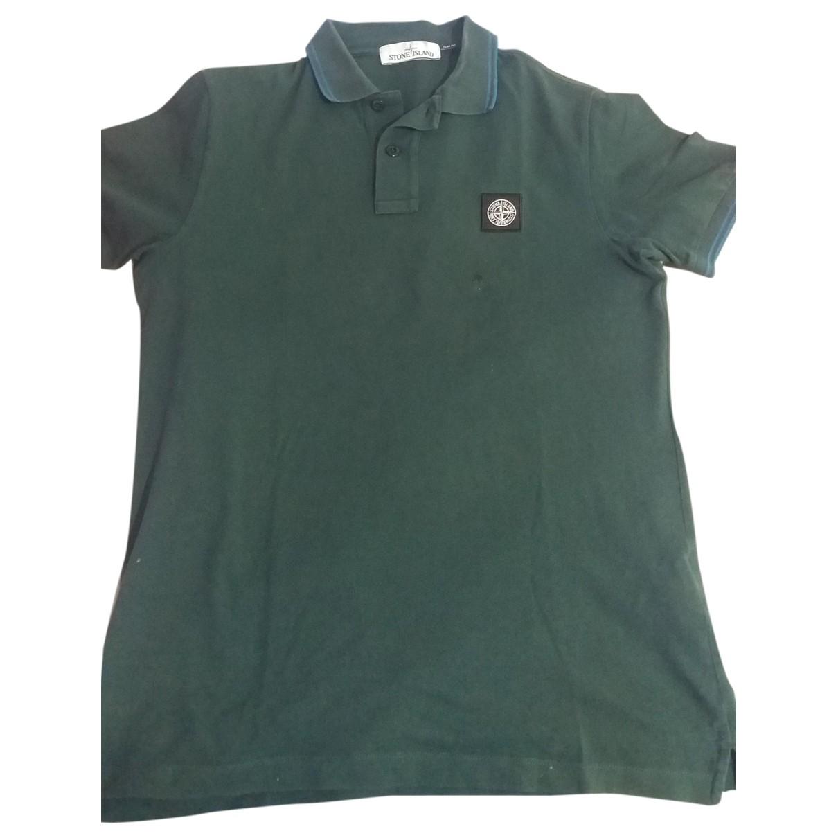 Stone Island - Polos   pour homme en coton - vert