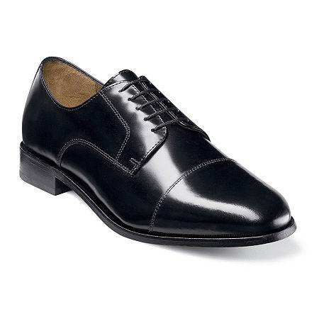 Florsheim Broxton Mens Cap Toe Oxford Dress Shoes, 10 Medium, Black