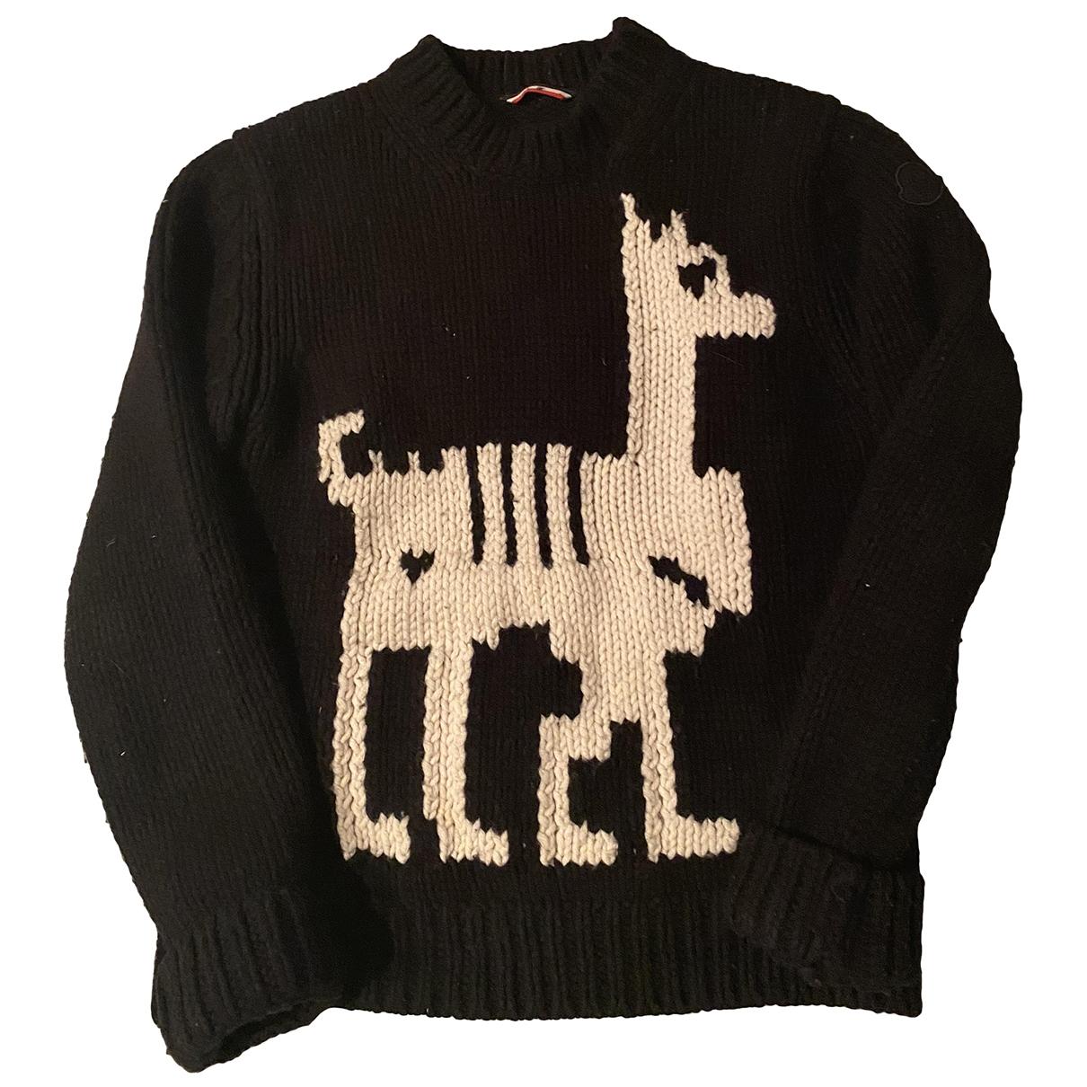Moncler - Pulls.Gilets.Sweats   pour homme en laine - noir