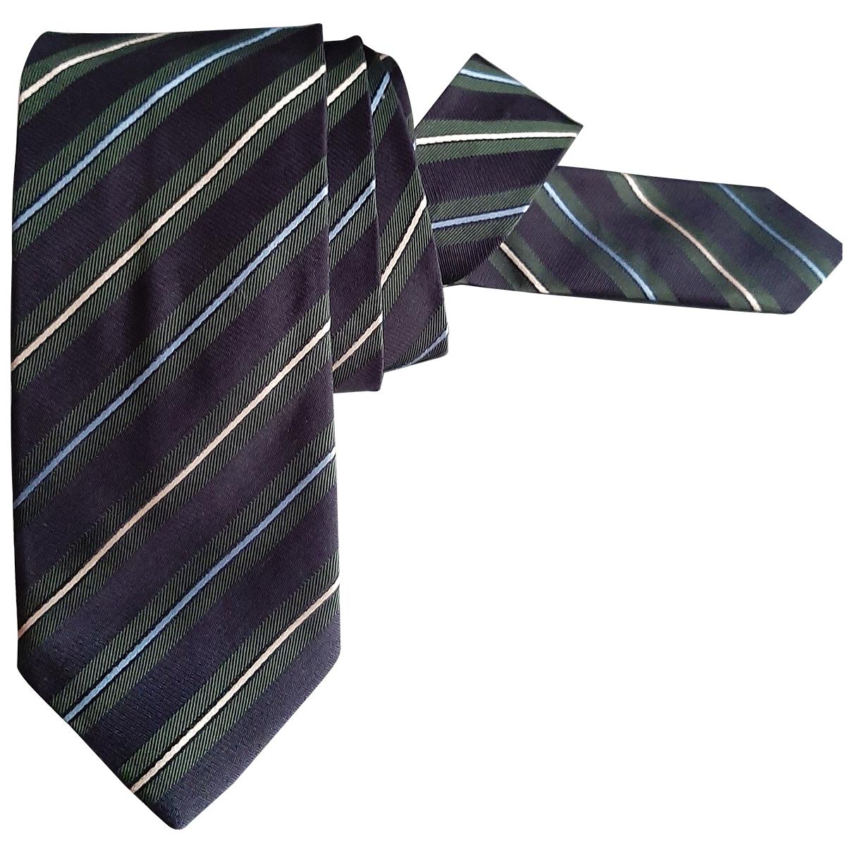 Prada - Cravates   pour homme en soie - marine