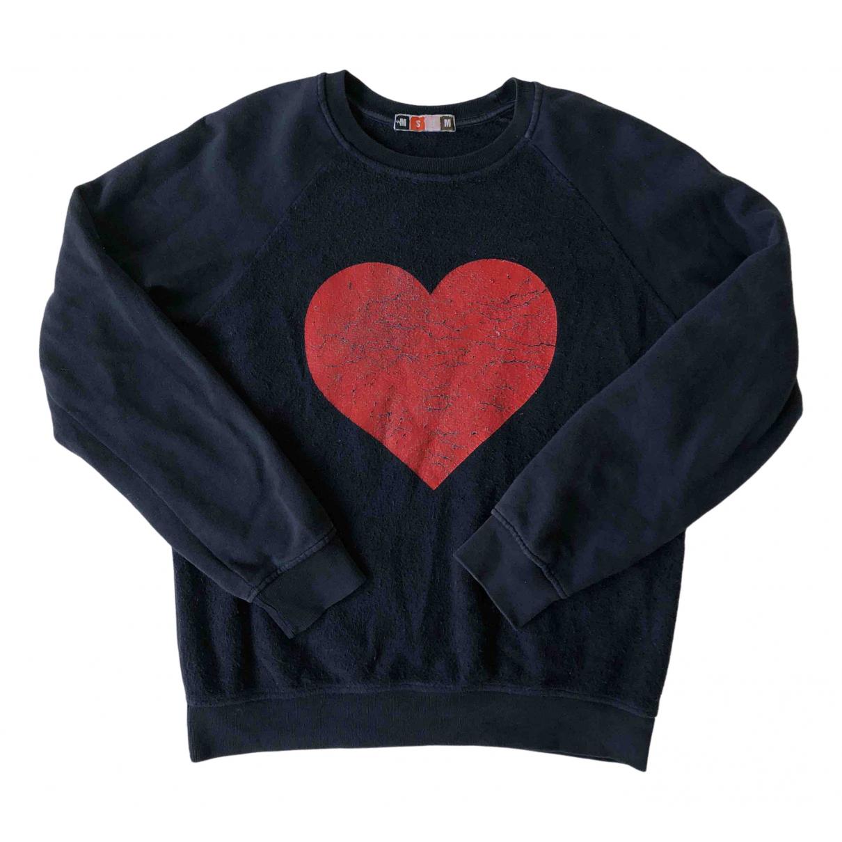 Msgm N Navy Cotton Knitwear for Women S International