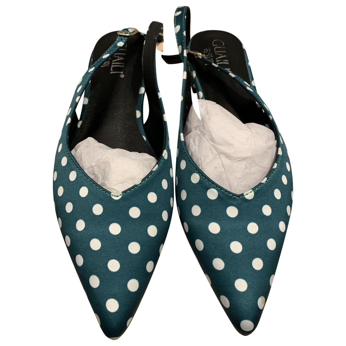 - Sandales   pour femme en toile - vert