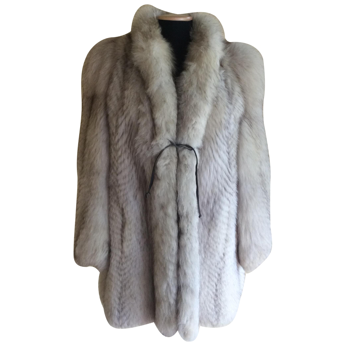 Non Signé / Unsigned \N White Fur coat for Women 42 IT