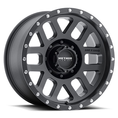 Method Race Wheels 306 Mesh, 18x9 with 8 on 170 Bolt Pattern - Matte Black - MR30689087518