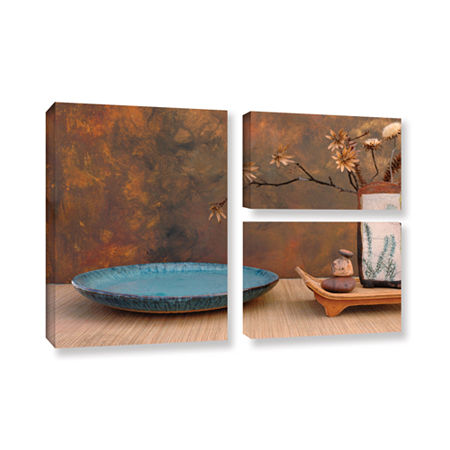 Brushstone Zen Still Life 3-pc. Flag Gallery Wrapped Canvas Wall Art, One Size , Brown