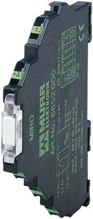Murrelektronik Limited , 24V dc SPDT Interface Relay Module, Spring Terminal , DIN Rail