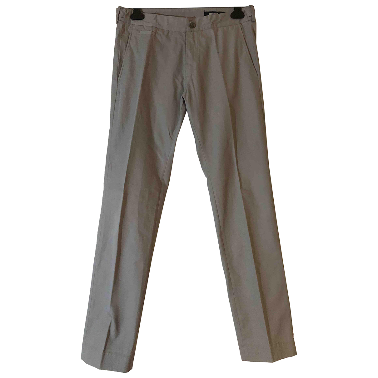 Just Cavalli N Grey Cotton Trousers for Men 48 IT